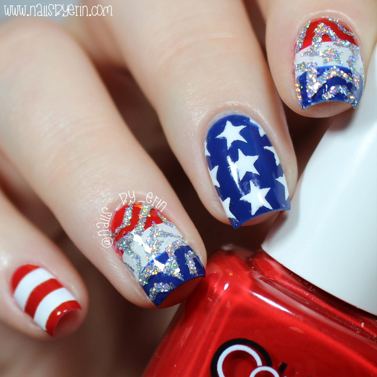 NailsByErin: Mix & Match 4th of July Nails