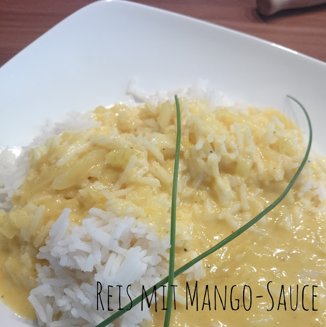 [Food] Reis mit Mango-Sauce // Rice with Mango-Sauce