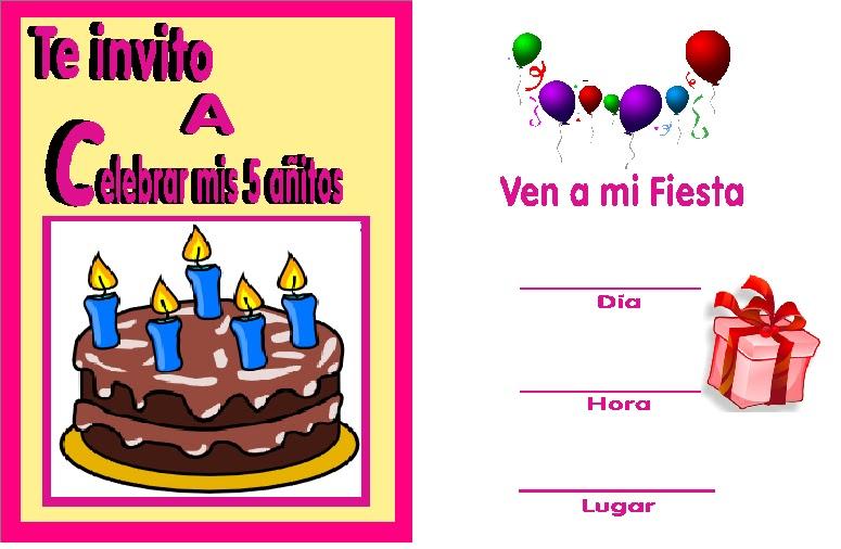Imagenes De Invitaciones Para Cumpleaños