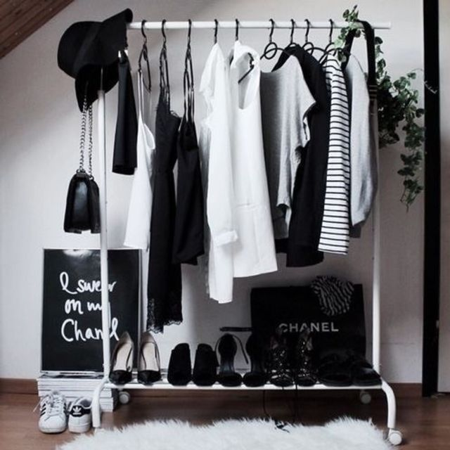 clothes rack pinterest
