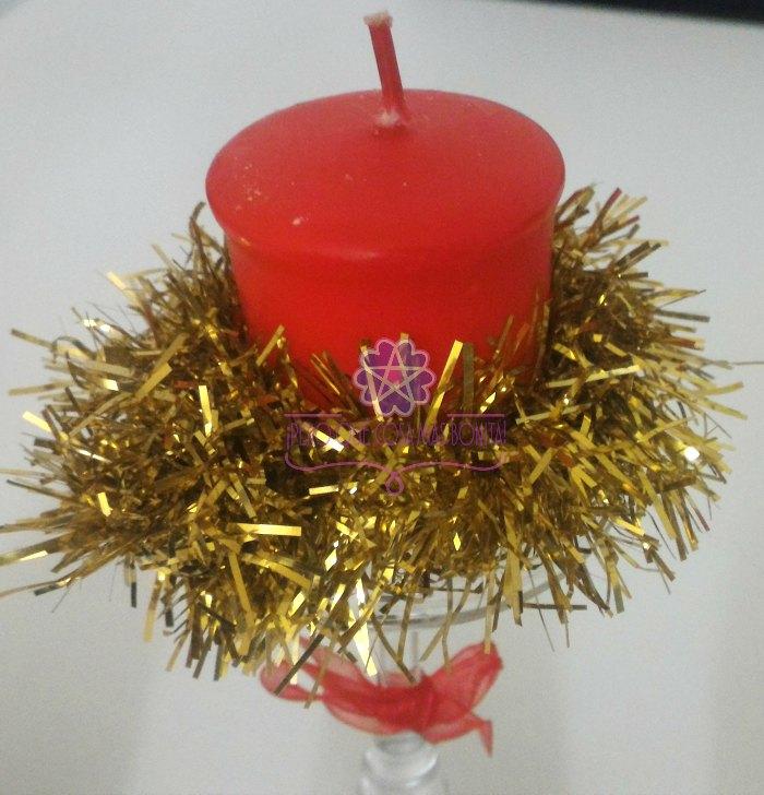 Decoracion navidad copa