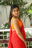 Lasya Cute Beauty in Saree Backless Choli at her Interview ~  Exclusive 076.JPG