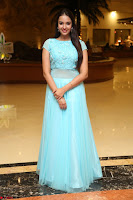 Pujita Ponnada in transparent sky blue dress at Darshakudu pre release ~  Exclusive Celebrities Galleries 019.JPG