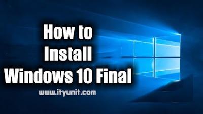 How_to_install_Windows_10_ityunit