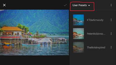 Cara Menambahkan Preset di Lightroom Android