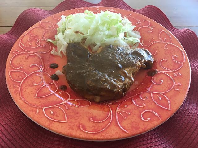 Receta de Chuletas de Cerdo en Salsa de Chile Pasilla