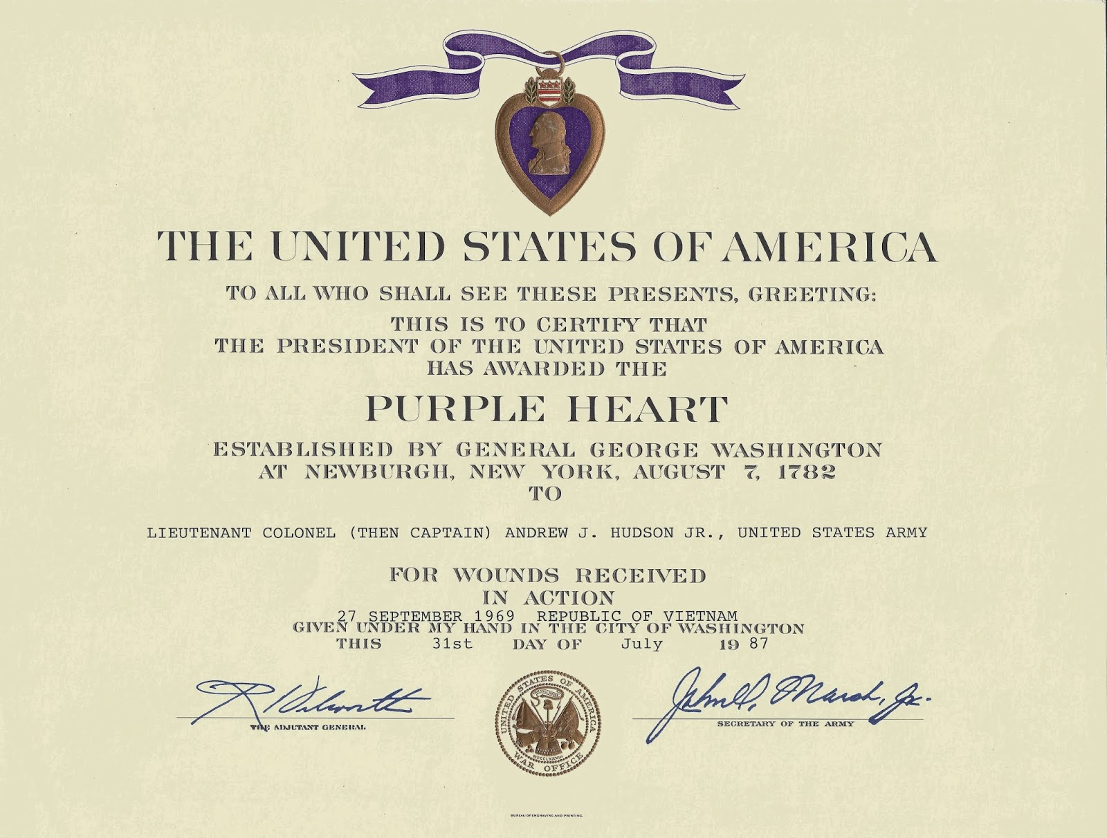 purple heart citation template awards certificates citations and diplomas war