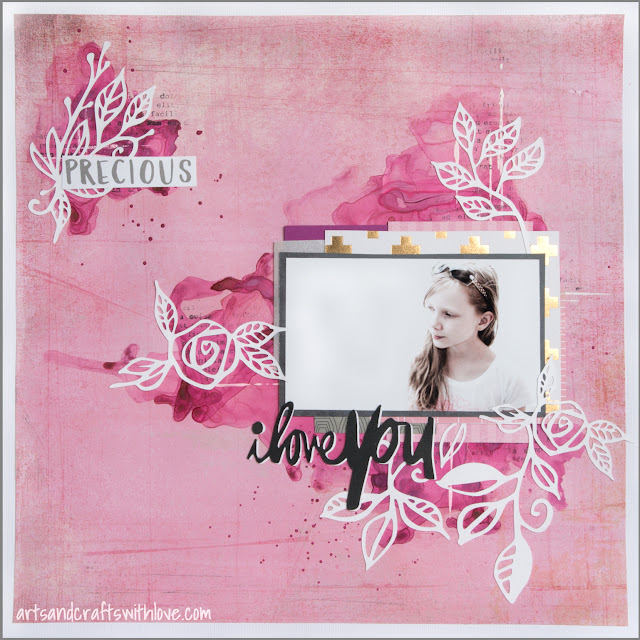 Scrapbooking layout using Sketchabilities sketch #145: Precious
