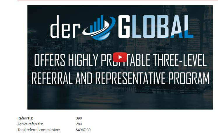 Оборот партнерской структуры в DERGlobal Limited