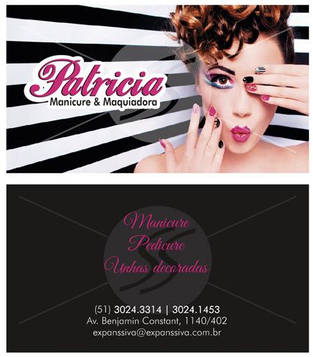 cartao de visita manicure guarulhos - Cartões de Visita para Manicure e Pedicure
