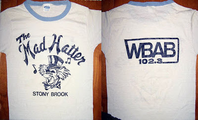 The Mad Hatter rock club t-shirt in Stony Brook, Long Island. 102.3 WBAB rock radio