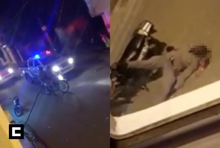 Video: Hieren policía tras lanzarle un block en la cabeza en Puerto Plata