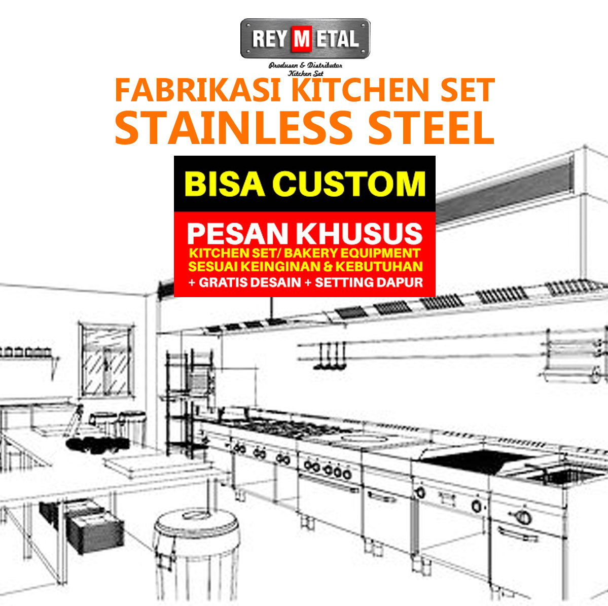 Fabrikasi Kitchen Set Stainless Steel