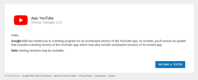 Youtube-beta-tester