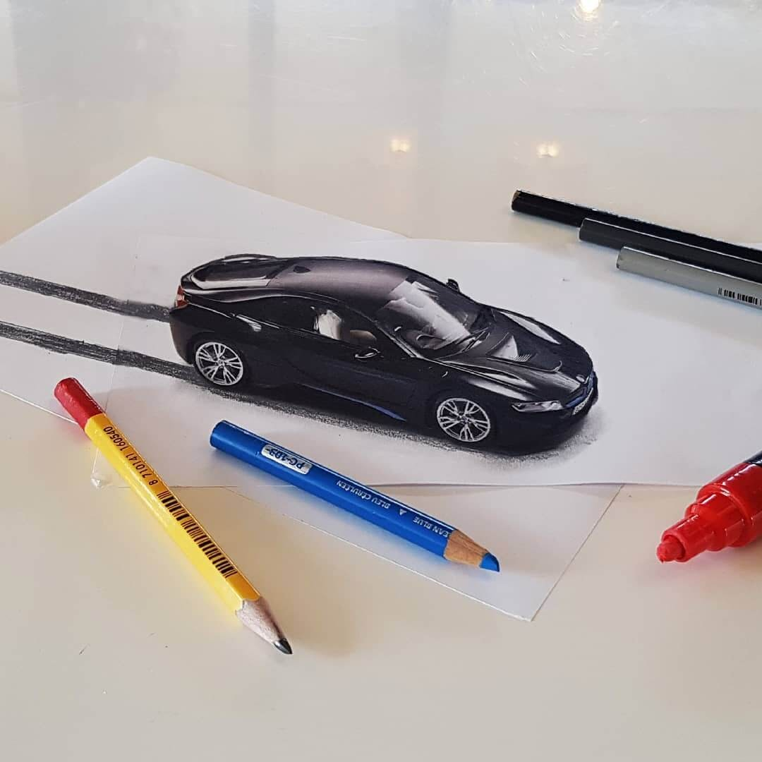 07-BMW-i8-Ramon-Bruin-Various-styles-of-3D-drawings-www-designstack-co
