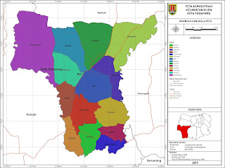 Peta Administrasi Kecamatan Mijen, Kota Semarang ~ NeededThing