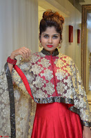 Anya South Actress model in Red Anarkali Dress at Splurge   Divalicious curtain raiser ~ Exclusive Celebrities Galleries 028.JPG