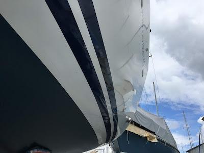 Part polished hull Jeanneau 45