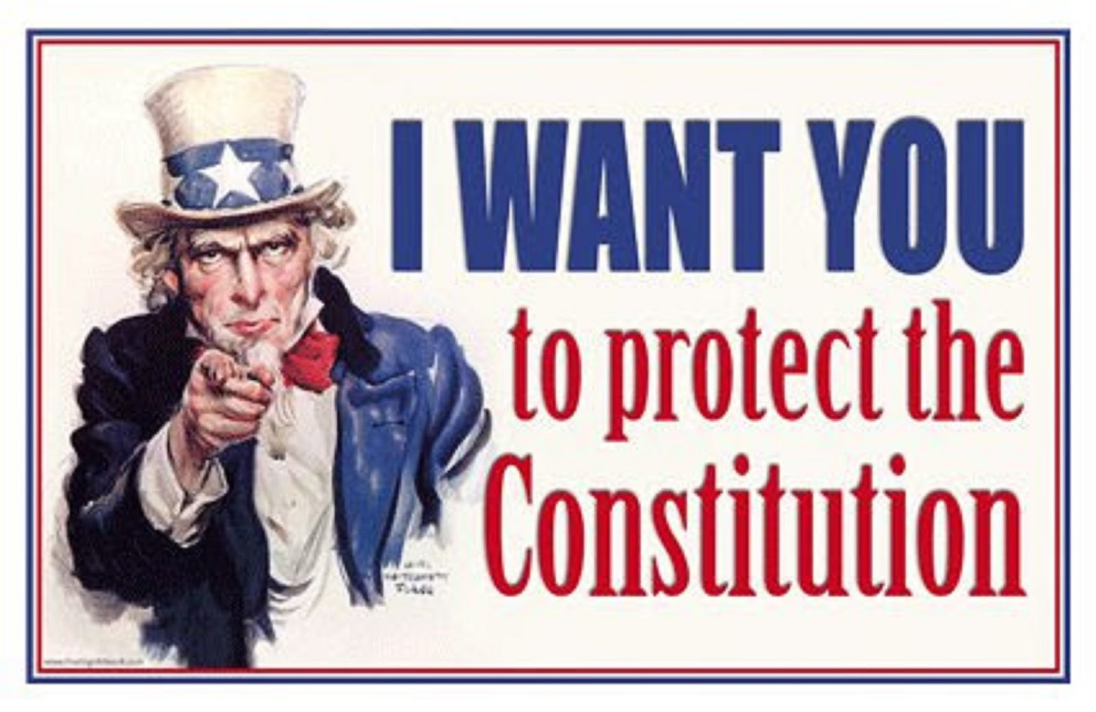UNCLE SAM - I WANT YOU TO PROTECT THE CONSTITUTION