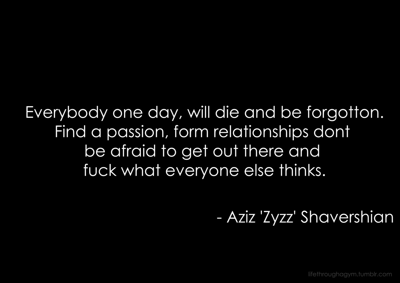 zyzz quotes