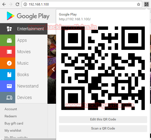 Hack Android Phone using HTA Attack with QR Code
