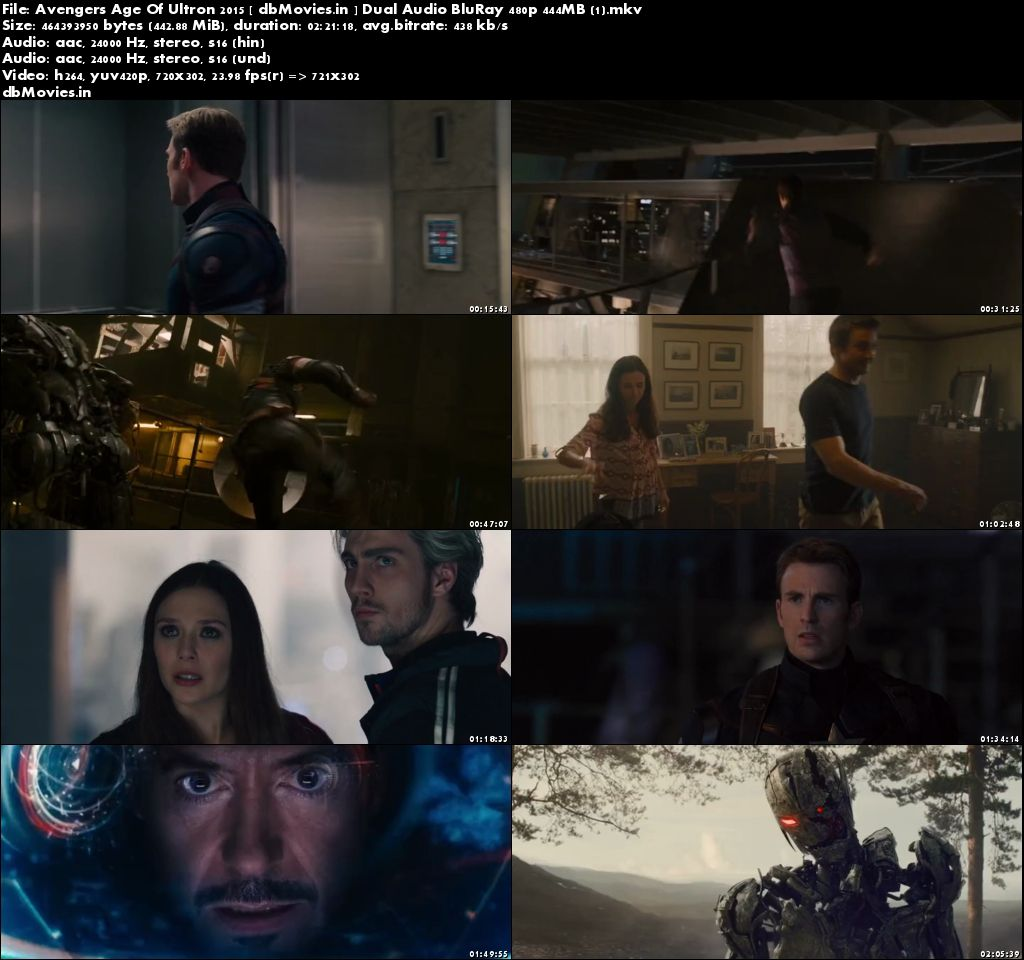 Screen Shots Avengers: Age of Ultron 2015 Full Movie Download 300MB Hindi