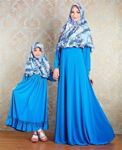 Model Baju Muslim Couple Ibu dan Anak Perempuan Terbaru 2017/2018