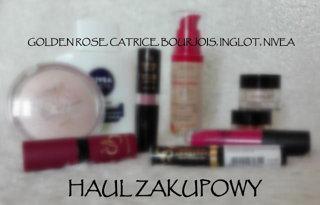 Haul zakupowy - Golden Rose, Catrice, Bourjois, Inglot, Nivea