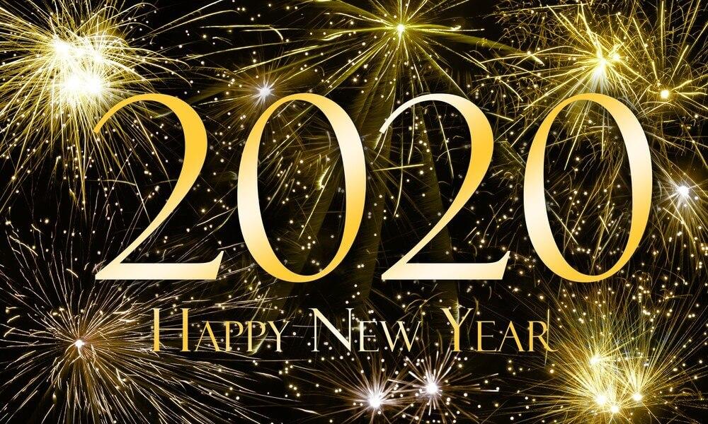 Happy New Year Gold Firework Wallpaper 2020