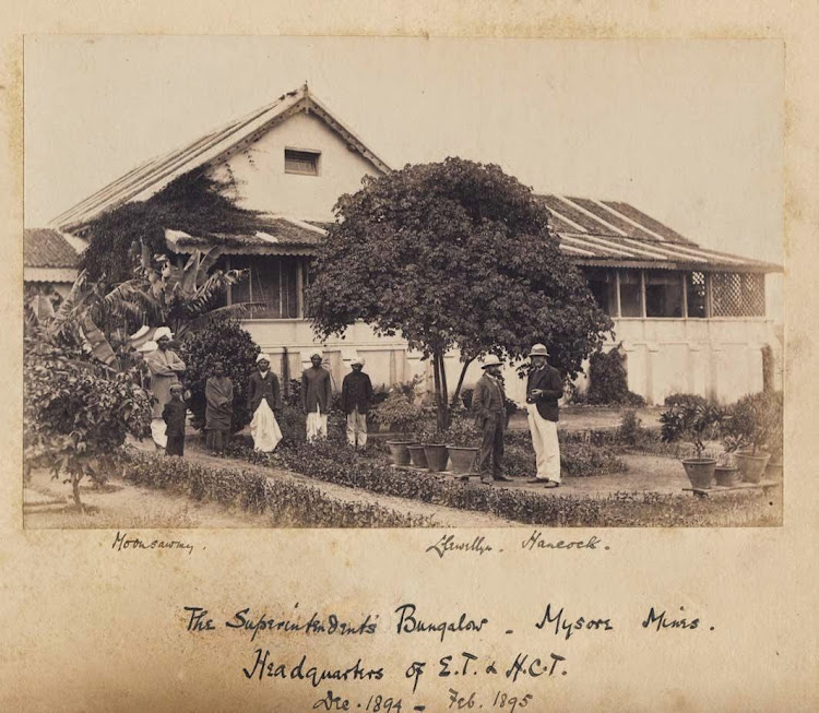 The Superintendent's Bungalow, Mysore Mines, Headquarters of E.T. & H.C.T.  - Between Dec 1894 and Feb 1895