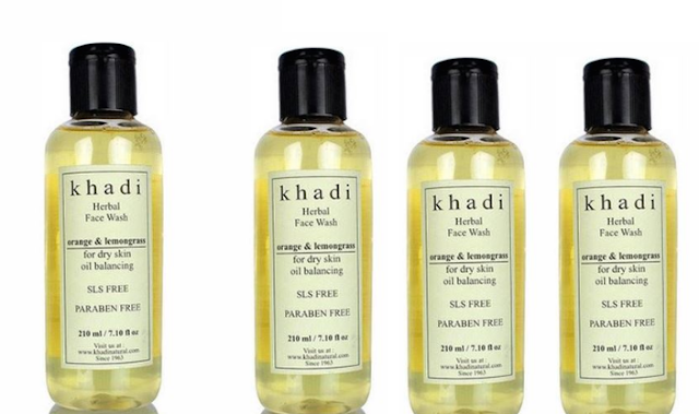 Khadi Orange & Lemon Grass Face Wash: