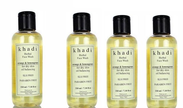 Khadi Orange & Lemon Grass Face Wash: