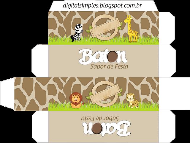 Caja lápiz labial de Safari Bebés para imprimir  gratis.