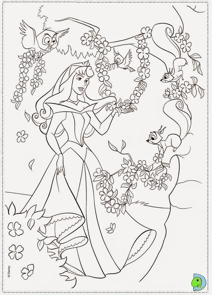 Dinokids desenhos para colorir desenhos de a bela for Sleeping coloring pages