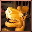 Cabeza de dragón 1. Talla de Serapio Hernandez.