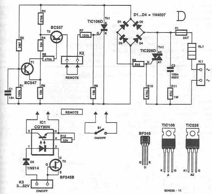 240V to 110V AC Inverter  Electronic Circuit