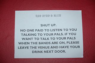 Shup up