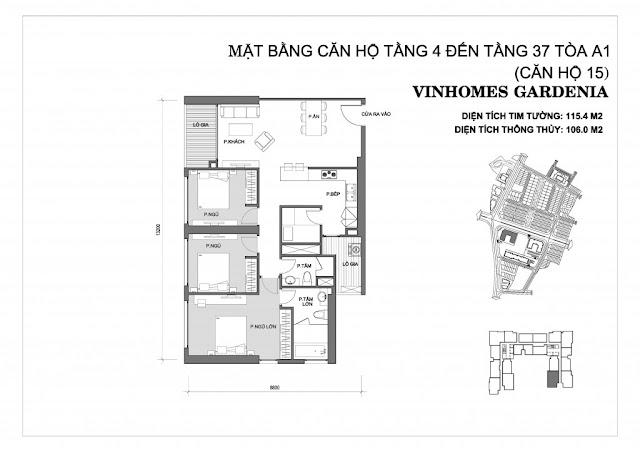 15 - Tòa A1 Vinhomes Gardenia