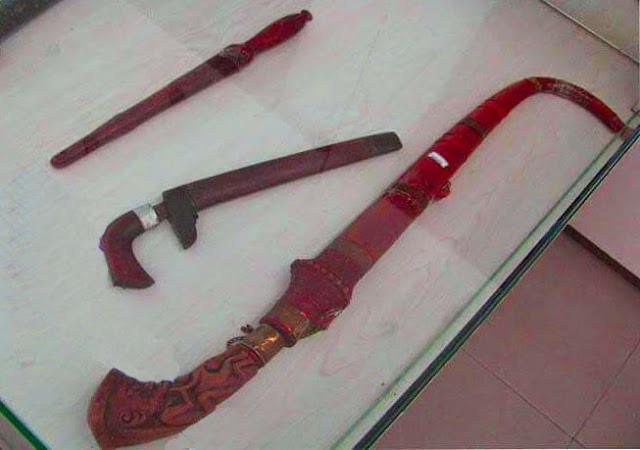 Gambar Piso Toba senjata Tradisional Sumatera Utara