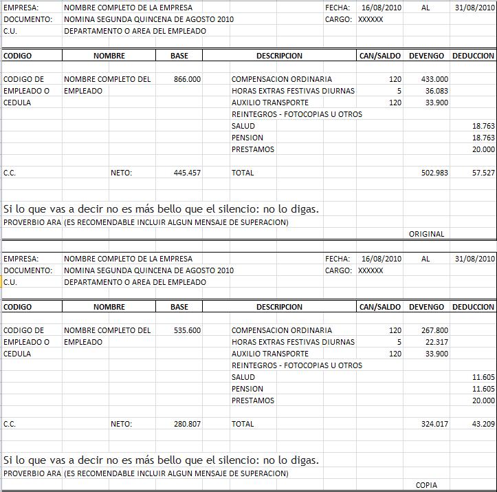 Blog De Nomina Evaluaci N Del Proceso De Liquidaci N
