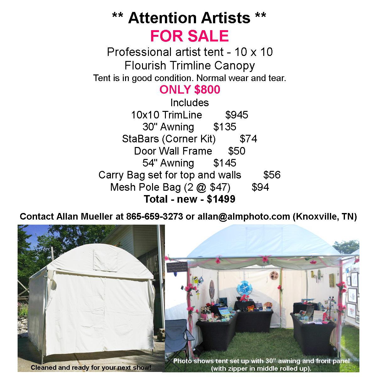 Flourish Trimline Canopy for sale Sassy Glass Studio Knoxville TN  sc 1 st  Sassy Glass Studio & Sassy Glass Studio :: All Things Sassy: Professional Artist Tent ...