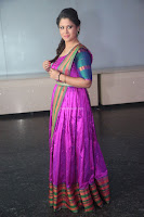 Shilpa Chakravarthy in Purple tight Ethnic Dress ~  Exclusive Celebrities Galleries 064.JPG
