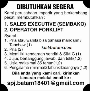 Lowongan Kerja Operator Forklift