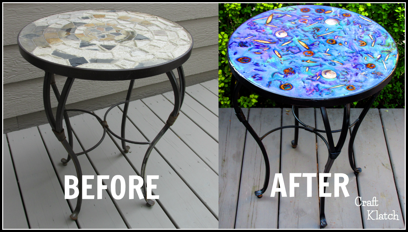 Craft Klatch Garbage To Gorgeous 17 Glam Resin Table