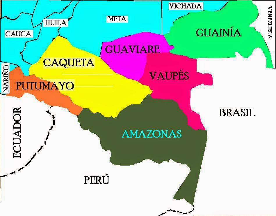 Resultado de imagen para mapa de amazonia