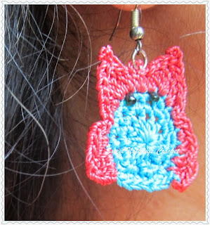 free crochet owl ear ring pattern
