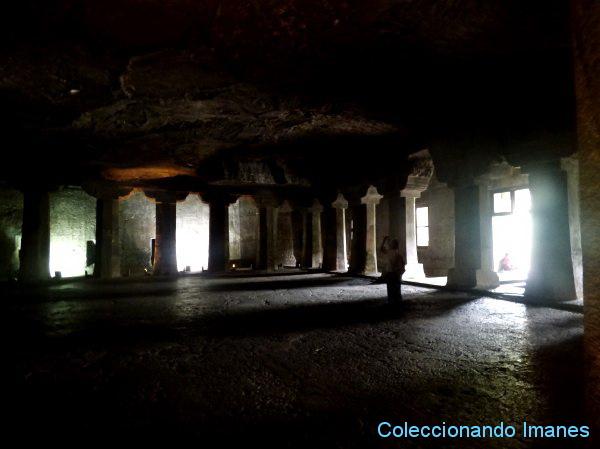 cueva incompleta en Ajanta