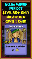 Golem Minion - Wizard101 Card-Giving Jewel Guide
