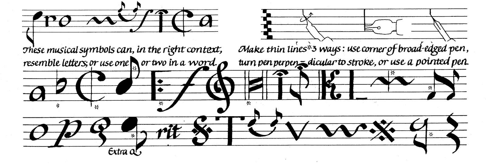 Margaret Shepherd: Calligraphy Blog: 120: Pro Musica