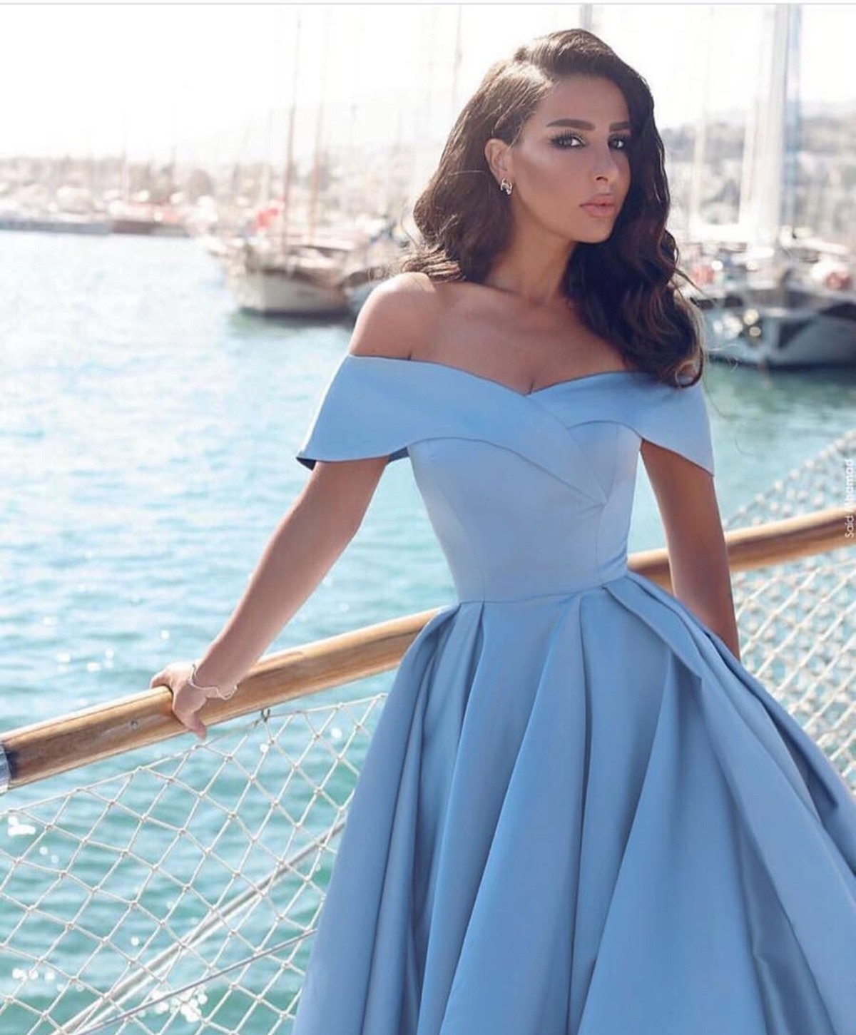 1f97a8994e880 Asa Style-Japon Stil ve Hollywood Stil: Bebe Mavi Yaka Tasarım Elbise